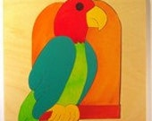 Parrot - wooden picture Puzzle for Preschool Age, in stock, ready to ship