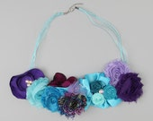 handmade necklaces, bib style necklace, or hair band, or can be warn as a sash