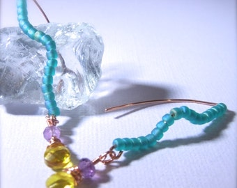 Amalfi Coast Collection Lemoncello Wire Earrings