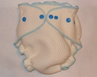 Zorb 2 Fitted diaper with blue snaps