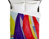 Colorful Sails Nautical Beach Duvet Cover from my art. Available in twin,queen and king sizes