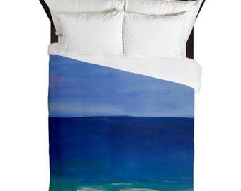 Beautiful Beach Duvet Cover from my art. Available in twin,queen and king sizes