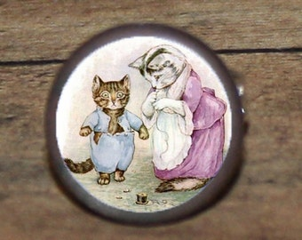 Beatrix Potter TOM KITTEN Tie tack or Cuff links or Ring or Pendant or Brooch