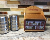 Box-wooden Recipe Box- Country Store