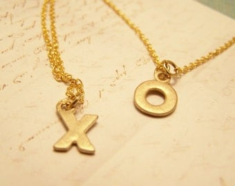 As Seen in Womans Day Magazine. Friendship Necklaces. Set of Two. XO. Hugs and Kisses. Love