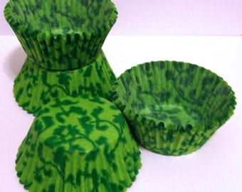 Green and Lime Vine Cupcake Liners- Choose Your Quantity