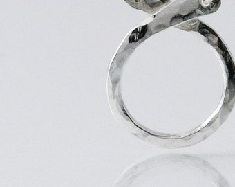 Circle Charm Holder Necklace in Sterling Silver
