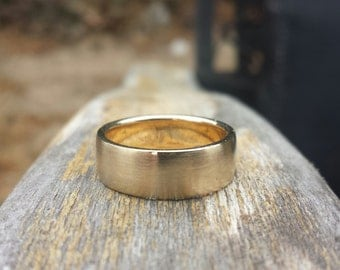 6mm Wide Wedding Band in Yellow Gold, Rose Gold, and White Gold