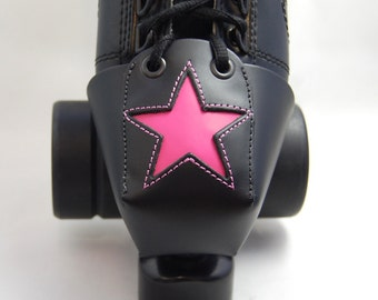 Leather Toe Guards with Hot Pink Star