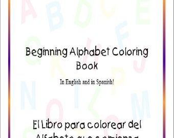 Instant Download, Beginning Alphabet Coloring Book Instant Download and Print