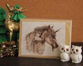 Fae Friends Unicorn and Faerie Greeting Card