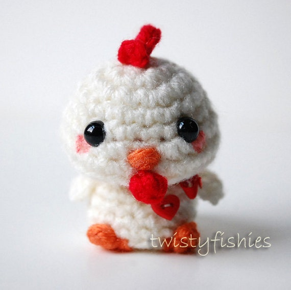 Amigurumi Mani : Kawaii Chicken Mini Amigurumi Plush