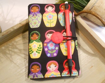 Journal Cover and Organizer PORTFOLIO...comes with Mini Journal and Mechanical Pencil
