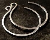 Lightweight Small Silver Hoop Earrings, Comfortable Small Hoop Earrings
