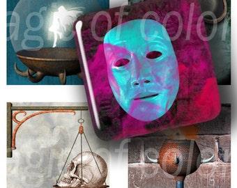 Mystical  Set - 63  1x1 Inch  JPG images - Digital  Collage Sheet