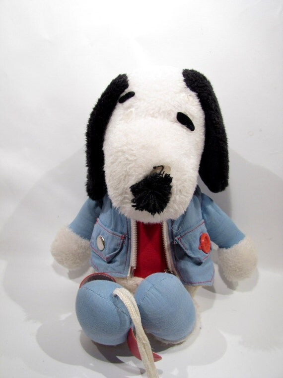 Vintage Knickerbocker Snoopy Plush Stuffed Animal Toy Activity