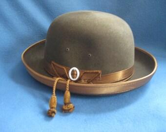 Vintage, Green Felt, Barcelona Hat
