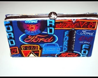 Retro Ford Repurposed Vintage Clutch Purse