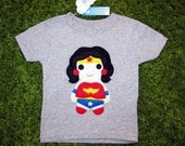 Kids Superhero Shirt - Wonder Girl - Toddler T-Shirt - Children's Clothing - Girls or Boys Gift