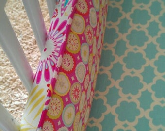 add fabric ties and piping to my bedding set