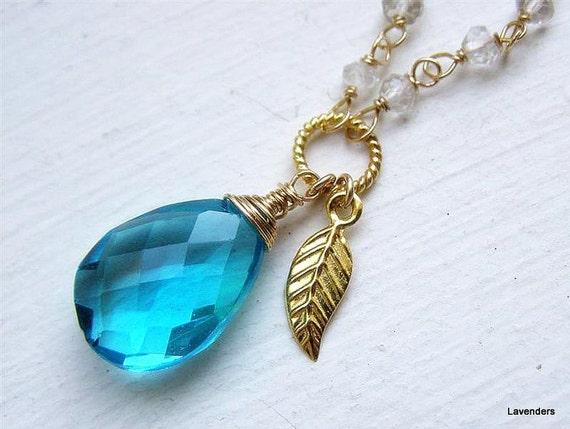 topaz necklace december birthstone jewelry swiss topaz. Black Bedroom Furniture Sets. Home Design Ideas