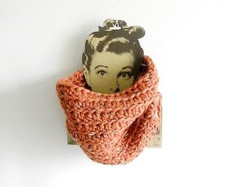 Cinnamon Crochet Scarf Unisex Cowl Man Woman Neckwarmer