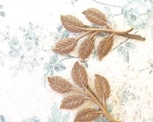 Leaf Branch Bobby Pin Set - Ox Brass Finish - Woodland Collection - Whimsical - Nature - Bridal