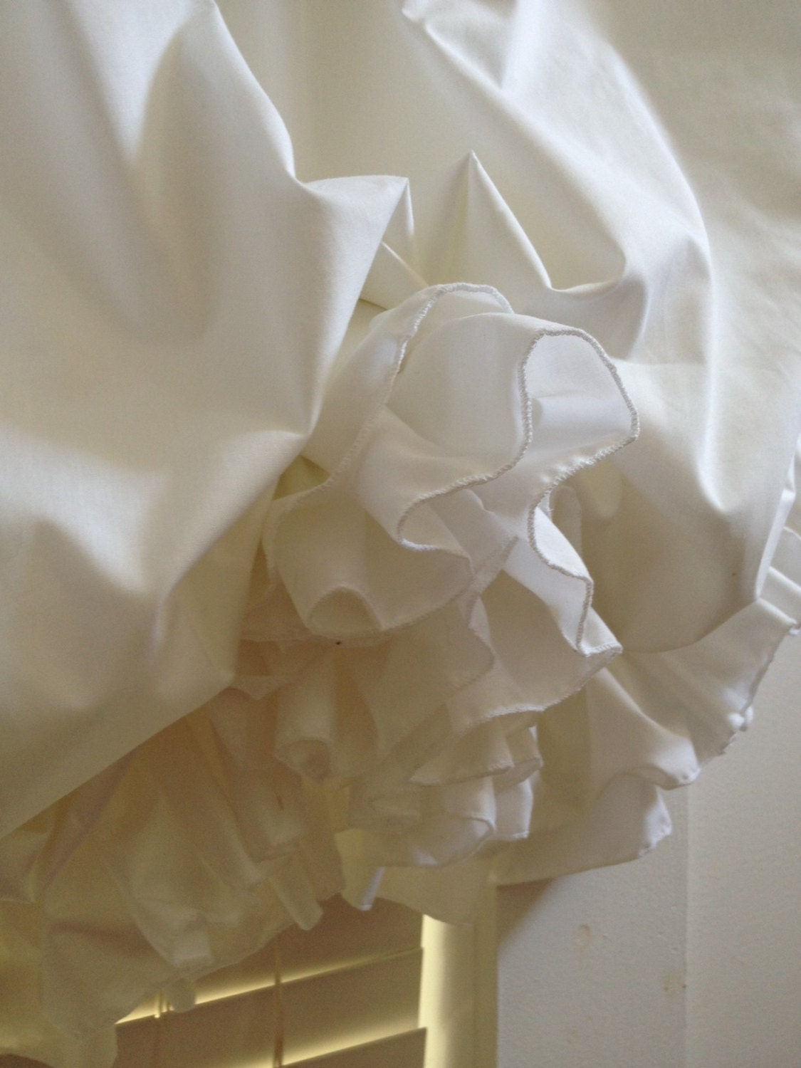 Double Ruffle Balloon Curtain With Color Choices