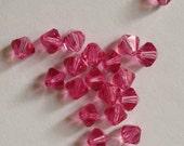 20 Swarovski 6mm Bicone Crystal Beads Item 5301 Rose
