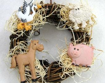 Farm Animals Christmas Ornament 101