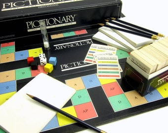 Vintage 1985 Pictionary Game First Edition VGC Complete / The Rousing Game of Charades on Paper