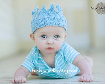 Crowned prince and princess headband KNITTING PATTERN by Funky Baby