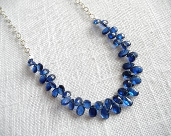 Sapphire Blue Kyanite necklace - sterling silver necklace -blue necklace -  V I D A 269