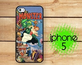 iPhone 5S iPhone 5 Case Vintage Comic Book Cover Horror Monster | Plastic or Rubber Case for iPhone 5 5S