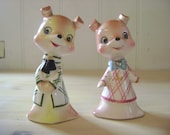 Mid century kitchy fox salt and pepper shakers