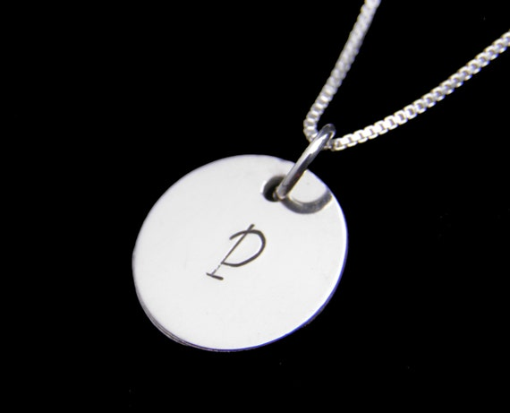 Children's Necklace - Personalized Initial Sterling Silver Necklace - Custom Hand Stamped Jewelry - Child's Initial Necklace