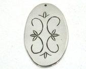Double Curve Sterling Silver Pendant