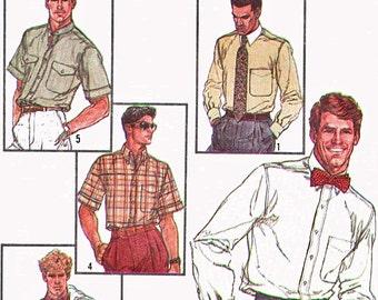 1980s Simplicity 7015 Uncut (42) Mens Classic Shirt Pattern Connoisseur Collection 1985 Mens Vintage Sewing Pattern 80s UNCUT