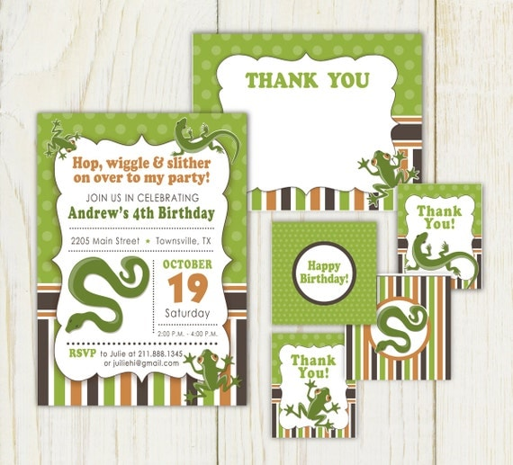Free Printable Reptile Birthday Invitations as best invitation layout
