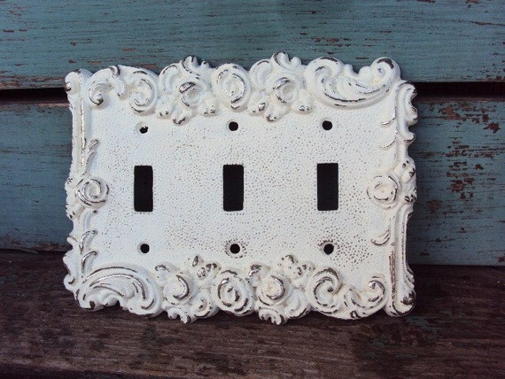 Vintage French Chic Light Switch Cover Triple Switch Cover
