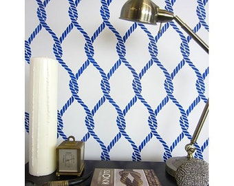 Perfect Catch Allover Stencil Pattern - reusable stencil patterns for walls just like wallpaper - DIY decor