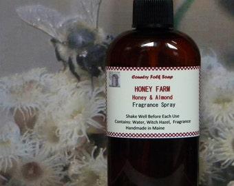 HONEY FARM Honey Almond Room Fragrance Spray - Handmade Linen and Room Spray