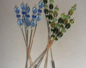 Steampunk  Crystal Hat Pins