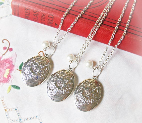 Mr. Darcy Locket Necklace, Set of 3