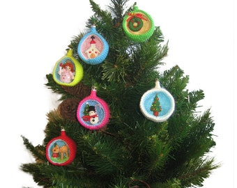 Christmas Diorama Ball Holiday WREATH Ornament Pdf Email CROCHET PATTERN