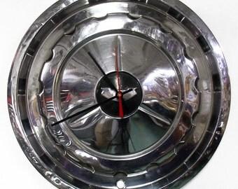 1957 Chevy Bel Air Hubcap Clock - Chevrolet Belair Wall Clock