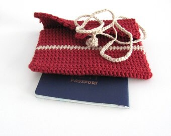 Passport Cover- men& women--Red-White-Green-Yellow-100 % Cotton- gift for all-Summer--Chrsitmas Gifts
