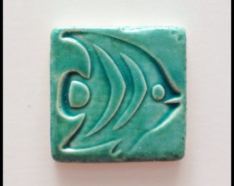 Aqua FISH Mosaic Tile