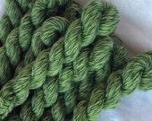 Mini skeins 30 meters Tweed sock yarn - Mossy