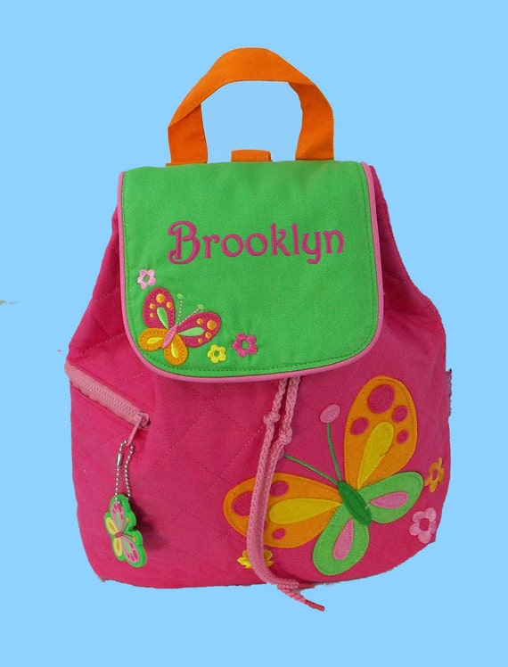 Personalized Child's Stephen Joseph Quilted BUTTERFLY (New Style) Backpack-Monogrammiong Is Included